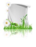 Papier mit Gänseblümchen Stockbilder
