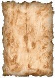 Papier mit gebrannten Rändern Stockbilder