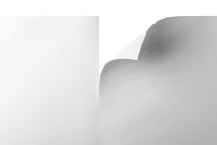 Papier mit gekräuselter Ecke Stockfotos