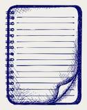 Papier mit Notizbuch Stockfotos