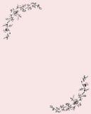 Papier mit rosafarbener Verzierung. Lizenzfreie Stockfotografie