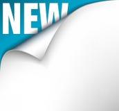 Papier mit Rotation und neuer Beschriftung lizenzfreie abbildung