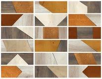 Papier na drewnianych tło sztandarach Zdjęcie Royalty Free