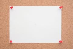 Papier na korek desce dla teksta i tła Zdjęcia Royalty Free