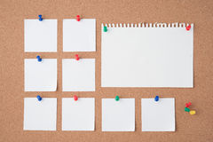 Papier na korek desce dla teksta i tła Zdjęcie Stock