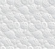 Papier-nahtloses Muster 3D OM Lizenzfreie Stockfotos