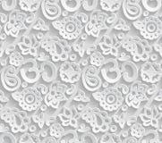 Papier-nahtloses Muster 3D OM Lizenzfreies Stockbild