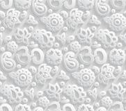 Papier-nahtloses Muster 3D OM Stockbilder