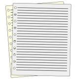 Papier notatki raster Obrazy Royalty Free