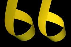 papier obdziera kolor żółty Zdjęcia Royalty Free