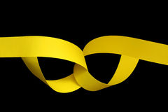 papier obdziera kolor żółty Obrazy Stock