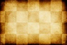 Papier ornementé par échecs grunges de cru vieux. Photographie stock libre de droits