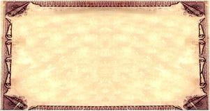 Papier parcheminé royal de sépia Image libre de droits