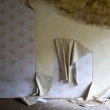 Papier peint éliminé dans la maison Images stock
