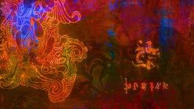 Papier peint abstrait avec des symboles d'imagination illustration de vecteur