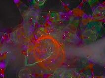Papier peint abstrait d'ornement de chaos de fractale de Digital, modèle, texture décorative et élégante magique vibrante illustration stock