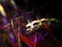 Papier peint abstrait de contexte de chaos de fractale de Digital, modèle, texture décorative et élégante magique vibrante illustration libre de droits