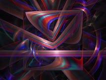 Papier peint abstrait de contexte de festival de chaos de fractale de Digital, modèle, texture décorative et élégante magique vib illustration de vecteur
