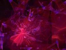 Papier peint abstrait de festival de chaos de fractale de Digital, modèle, texture décorative et élégante magique vibrante illustration stock