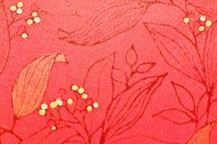 Papier peint abstrait de rouge de feuille Images libres de droits