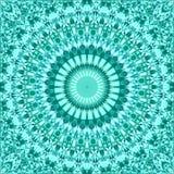 Papier peint abstrait sans couture de modèle de mandala de kaléidoscope de tuile de mosaïque de triangle de turquoise illustration stock