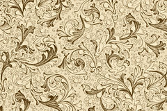 Papier peint antique avec la configuration florale Photos libres de droits