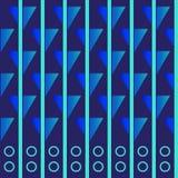Papier peint avec des éléments des rayures et des chiffres Configuration sans joint Illustration Stock