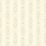 Papier peint avec le modèle floral d'or Images stock