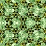 Papier peint baroque en ornement continu Copie à la mode dans la couleur verte Modèle d'écharpe photographie stock