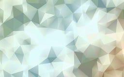 Papier peint blanc chaud abstrait de polygone Photos libres de droits