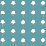 Papier peint blanc mignon de cornet de crème glacée Photographie stock libre de droits