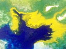 Papier peint brouillé lumineux d'été de tache de débordement de baie de côte de main texturisée de décoration de fond d'abrégé su Photos stock