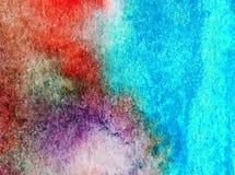 Papier peint brouillé lumineux de tache de débordement de main texturisée de décoration de côte de fond d'abrégé sur art d'aquare Photographie stock libre de droits