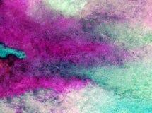 Papier peint brouillé lumineux de tache de débordement de main texturisée de décoration de fond d'aquarelle de ciel de lever de s Photographie stock libre de droits