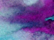 Papier peint brouillé lumineux de tache de débordement de main texturisée de décoration de fond d'aquarelle de ciel de lever de s Photo libre de droits