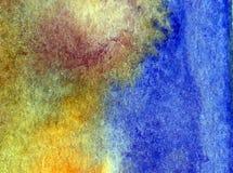 Papier peint brouillé lumineux de tache de débordement de main texturisée de décoration de l'eau de côte de fond d'abrégé sur art Image stock