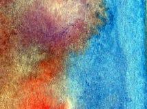Papier peint brouillé lumineux de tache de débordement de main texturisée de décoration de l'eau de côte de fond d'abrégé sur art Photos libres de droits