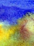 Papier peint brouillé lumineux de tache de débordement de main texturisée de décoration de plage de sable de côte de fond d'abrég Photo stock