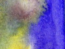 Papier peint brouillé lumineux de tache de débordement de main texturisée de décoration de plage de sable de côte de fond d'abrég Photos stock