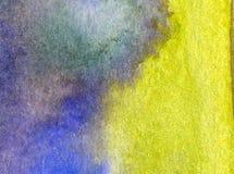Papier peint brouillé lumineux de tache de débordement de main texturisée de décoration de plage de sable de côte de fond d'abrég Image stock