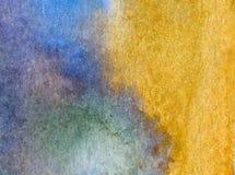 Papier peint brouillé lumineux de tache de débordement de main texturisée de décoration de plage de sable de côte de fond d'abrég Photographie stock libre de droits