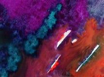Papier peint brouillé lumineux de tache de débordement de vague de mer de main texturisée de décoration de fond d'abrégé sur art  Image stock