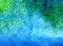 Papier peint brouillé lumineux de tache de débordement de vague de mer de main texturisée de décoration de fond d'abrégé sur art  Photo libre de droits