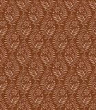 Papier peint brun floral sans joint Images libres de droits