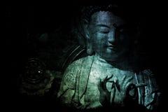 Papier peint chinois de fond d'abrégé sur temple illustration stock