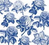Papier peint classique avec une configuration de fleur. Photos stock