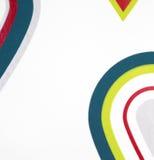 Papier peint coloré de modèle d'imagination de baisses sur le fond blanc Image libre de droits