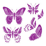 Papier peint d'abrégé sur conception d'illustration de fond de modèle de tissu de tuile de couverture de papillon illustration de vecteur