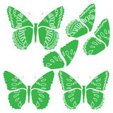 Papier peint d'abrégé sur conception d'illustration de fond de modèle de tissu de tuile de couverture de papillon illustration libre de droits