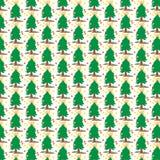 Papier peint d'abrégé sur conception d'illustration de vecteur de fond de modèle de tissu de tuile de couverture d'arbre de Noël Image libre de droits